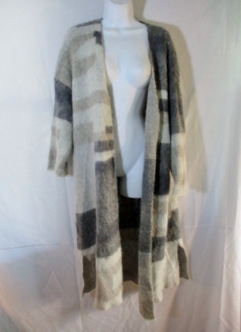 EILEEN FISHER Mohair Alpaca Cardigan Maxi Sweater Jacket GRAY XL Dress