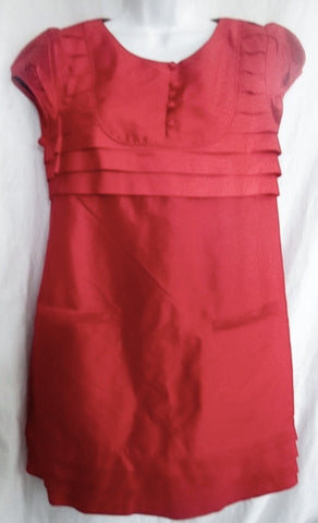 NEW Womens CALYPSO CHRISTIANE CELLE 100% SILK Shift Dress S RED CARDINAL