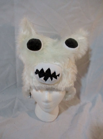 NWT NEW TURTLE FUR BUMBLE Faux Fur Hat Cap Winter WHITE MONSTER OS Ski Snow