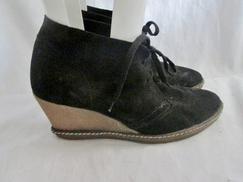 Womens J. CREW ITALY Ankle Chukka Suede BOOT Shoe CHESTNUT BLACK 8