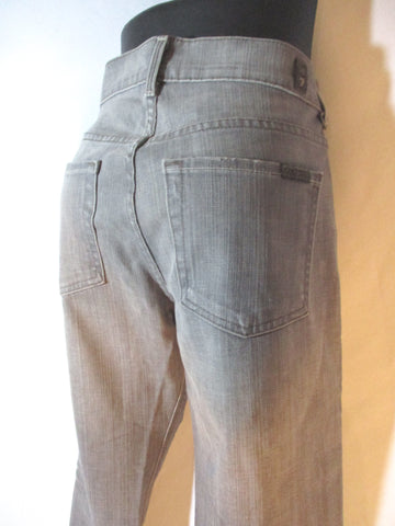 NEW 7 FOR ALL MANKIND JEANS STRETCH Skinny Jeans 27 GREY GRAY