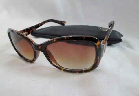 ANN TAYLOR LOFT Sunglasses 11013-130602-011 BROWN TORTOISE SHELL Case Animal Print