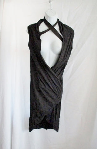 RICK OWENS DRKSHDW ITALY Jersey Sheath Dress M BLACK Sheath Womens