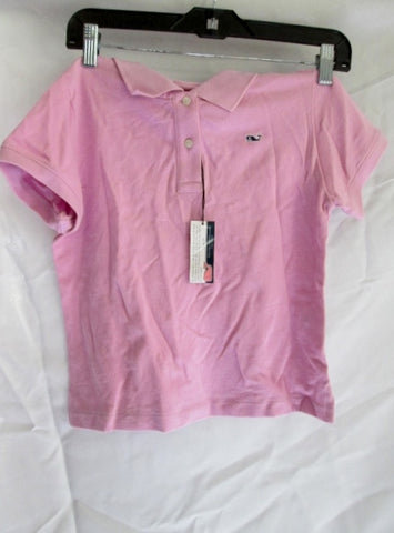 NEW NWT YOUTH Kids VINEYARD VINES POLO Shirt Pink S 8-10 Whale Preppy