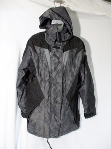 NORTH FACE EXTREME LIGHT Zip Windbreaker Jacket Coat 14 Hood GRAY WOMENS