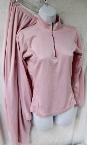 Womens PATAGONIA CAPILENE Set Thermal Long Underwear 2 Pc Set Layer S PINK