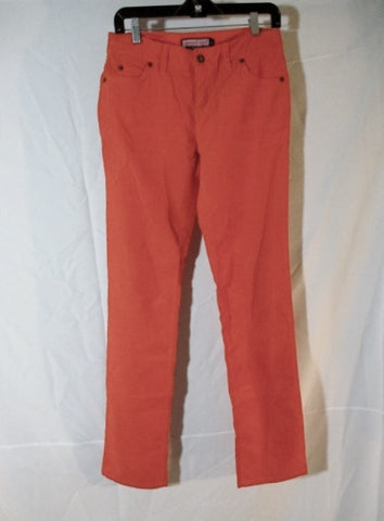 NEW VINEYARD VINES Corduroy Pant Trouser Preppy Whale 4 ORANGE Womens