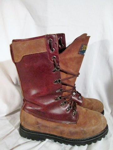 Mens REDHEAD THINSULATE ULTRA BONE DRY LEATHER Winter Snow Boots 10.5 BROWN RED HEAD