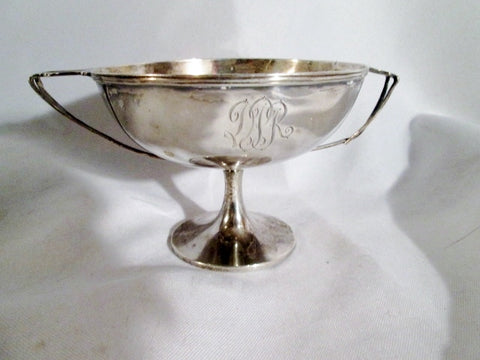 Signed STERLING SILVER 7265 Handle TROPHY CUP BOWL Monogram 111g Nouveau