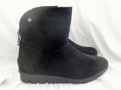 NEW NWT BASIC EDITIONS REMIX Vegan Ankle BOOT Shoe Booties BLACK 10