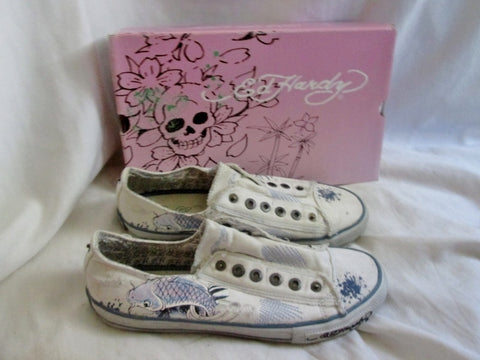 Womens ED HARDY LR DANETTE Lowrise Shoes Sneaker Trainer Sports 9 WHITE KOI