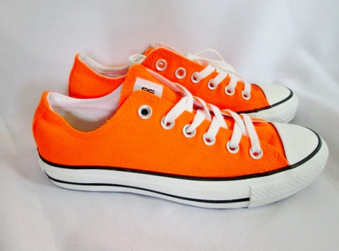 NEW CONVERSE ALL STAR LOWRISE Sneaker Trainer Athletic ORANGE M5 W7 CHUCKS Shoe