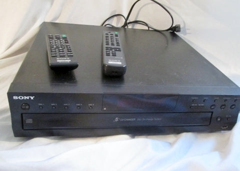 Sony 5-Disc CD Player Changer Black CDP-CE500 Bundle RM-DX53 RM-ASU100 Controller