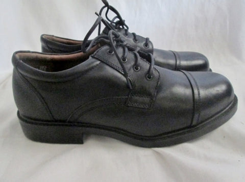 NEW Mens PURITAN Leather OXFORD Loafer Dress Shoes 11 BLACK Cap Toe