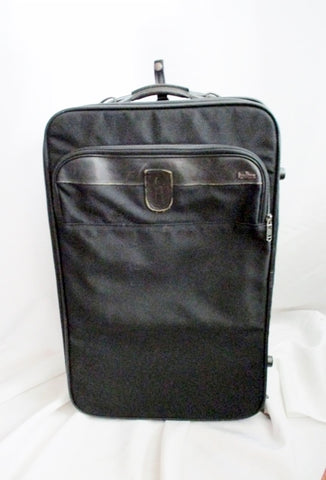 "23"" HARTMANN SUITCASE CASE Travel Bag Carry-On Overnighter Rolling BLACK"