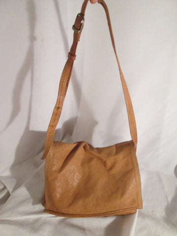 EMILY ANN BOCA RATON Leather Hobo Satchel Flap Crossbody Shoulder Bag BROWN Purse