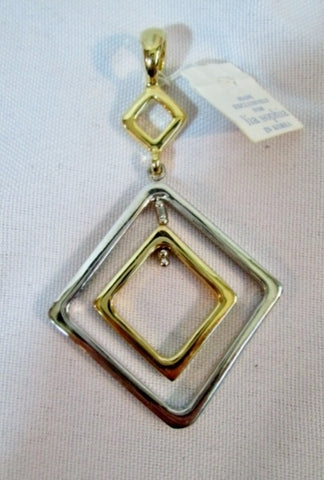 NEW NWT LIA SOPHIA PENDANT Necklace DIAMOND GEOMETRIC GOLD SILVER