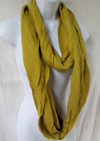 NEW NWT Womens LIMESTONE GREEN Infinity NECK SCARF Vegan YELLOW