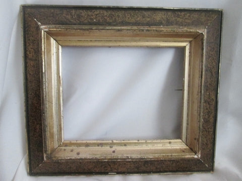 "Antique Carved GESSO Wood Picture Frame Art GILT BROWN Holds 8 x 10"" Wall Handmade"