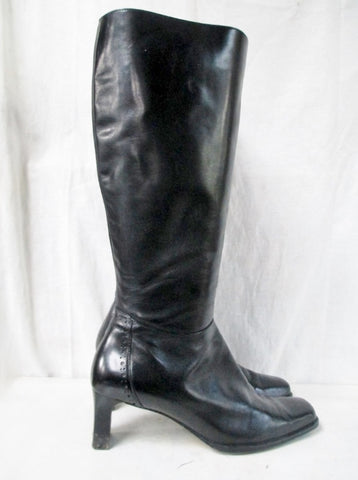 Womens SUDINI NORDSTROM Knee High LEATHER RIDING Moto BOOT 9 BLACK Shoe