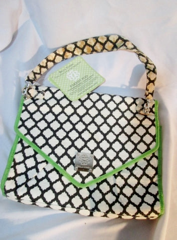 NWT BELLA TUNNO PARENT POD Portable Diaper Bag Pockets Case Organizer WHITE BLUE