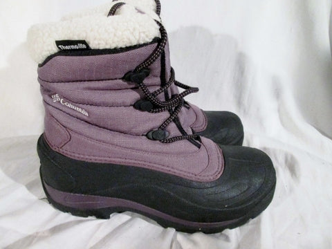 Womens COLUMBIA CASCADIAN TRINITY Lined Snow Rain BOOT Shoe PURPLE 8 Winter