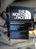 Boys Kids THE NORTH FACE Jacket Coat Winter Ski CHARCOAL GRAY S/P 7/8 ORANGE