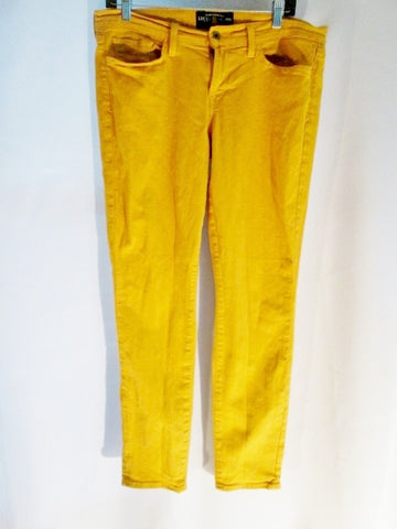 Womens LUCKY BRAND CHARLIE SKINNY Jeans Pants 14 / 32 GOLDENROD YELLOW DUNGAREES