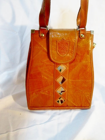 BY EAST ASIA CO. Shoulder BAG BROWN Ethnic Diamond Vegan Satchel