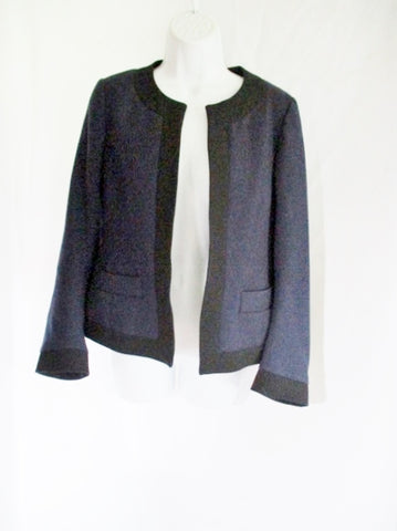 New DRIES VAN NOTEN 100% Wool blazer jacket coat 36 4 NAVY BLUE Womens