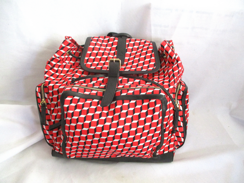 NEW PIERRE HARDY BACKPACK RUCKSACK CUBE PRINT Bag RED - Large