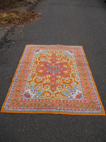 5' x 7' NEW GENERATIONS Wool Rug Carpet Mat Area Turkish Oriental Ethnic ORANGE
