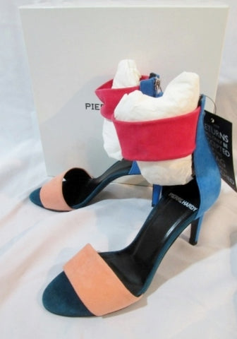 NEW NWT PIERRE HARDY Suede KID Stiletto Heel Sandal Shoe 36.5 6 PEACH Womens NIB
