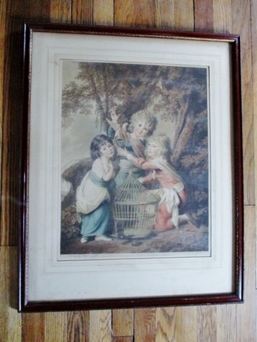 Antique 1919 SIGNED Henry Macbeth-Raeburn LITHOGRAPH PRINT Picture FINE ART