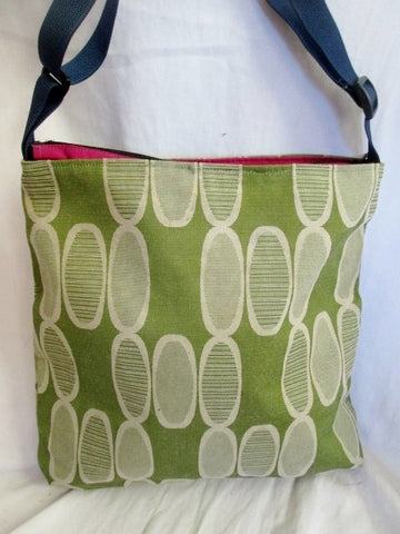 NEW REFINERY BROOKLYN Messenger Crossbody Shoulder Bag GREEN AVOCADO Vegan