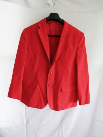 VITTORIO ST. ANGELO JACKET SUIT BLAZER RED 42S Formal Sports