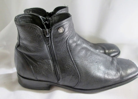 Mens DUQUE DI GALIANO Leather Ankle Boots Shoes BLACK 9.5 / 26.5 Hipster Industrial Goth Street