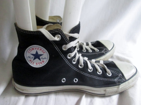 CONVERSE ALL STAR Chucks Hi-Top Sneaker Trainer Athletic Shoe BLACK Mens 10 W 12