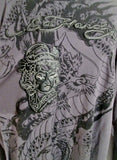 ED HARDY for CHRISTIAN AUDIGIER TATTOO ART DRAGON  XXL Shirt Top GRAY 2XL