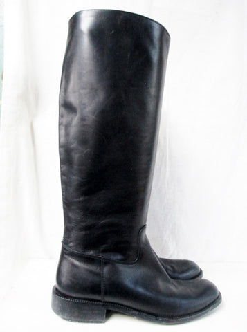 Womens SUDINI NORDSTROM Knee High LEATHER EQUESTRIAN BOOT 9 BLACK Shoe