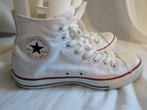 CONVERSE ALL STAR Chucks Hi-Top Sneaker Trainer Athletic Shoe WHITE M8 W10