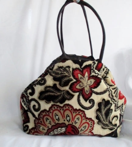 ATENTI USA Carpet TAPESTRY KILIM Tote Bag Bowler Satchel Purse FLORAL