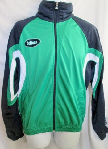 Vintage 1980s MENS BELTONA Soccer Fitness Running Windbreaker Jacket Green 5
