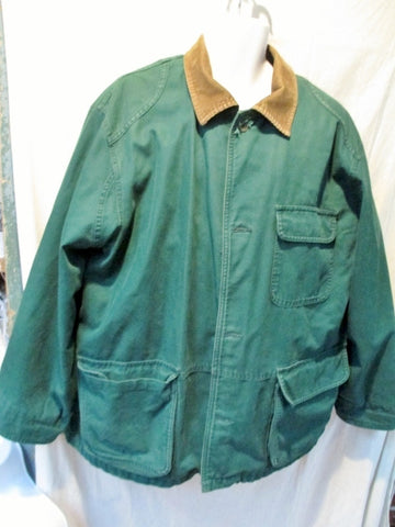 MENS EDDIE BAUER OUTDOOR Field Jacket Coat Winter Ski GREEN M Lined