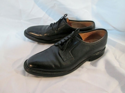 Mens PEAL & CO. BROOKS BROTHERS England Leather Shoes Wingtip BLACK 10.5 Dress