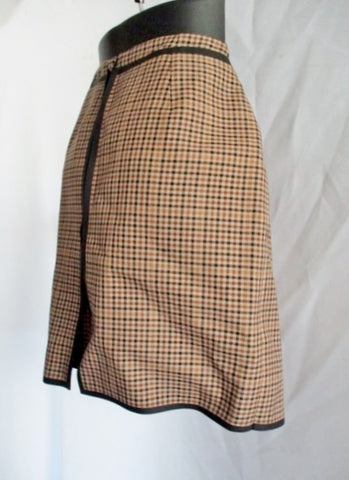 NWT NEW BALENCIAGA Herringbone Wool Mini Skirt 40 / 8 BROWN Tweed Kilt