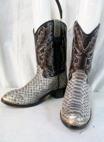 Youth Toddler DURANGO SNAKE PRINT BOOT NATURAL Vegan Cowboy Western BROWN 13.5