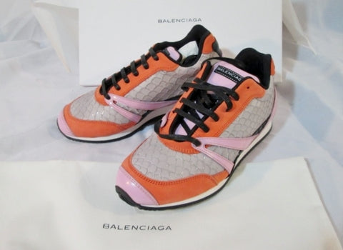NEW BALENCIAGA Sneaker Shoe FISH SCALE 36 6 GREY PINK GRAY Womens NIB