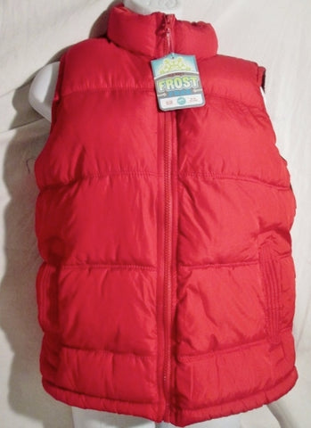 NEW NWT GIRLS OLD NAVY FROST FREE Jacket Coat Winter Puffer Ski VEST L RED 10-12