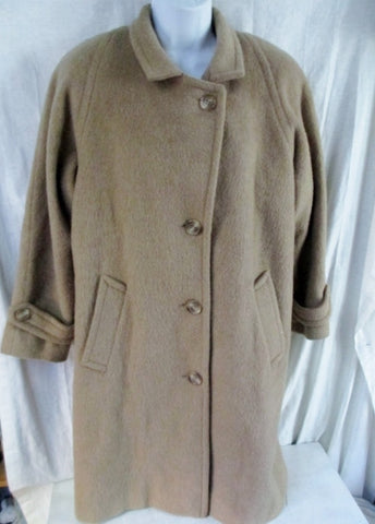 Vtg PAVILION PETITE Wool jacket coat Peacoat CHESTNUT BROWN S Made USA